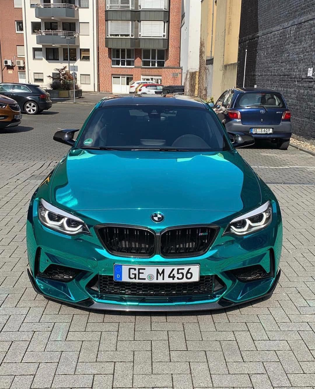 Bmw F87 M2 In Hexis Gloss Turquoise Super Chrome Wrap Super Cars