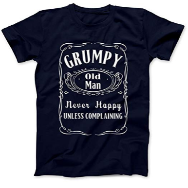 Grumpy Grandad Tshirt Old Man Men/'s Club Dad Tee Funny Christmas Gift Xmas shirt