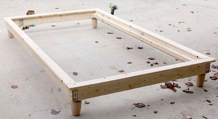 How To Build A Wood Bed Frame Diy Platform Bed Twin Platform Bed Wood Bed Frame Diy