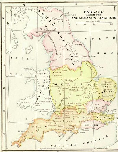Map Of England Under Alfred The Great.King Alfred The Great Of Wessex Died In 899 He Was