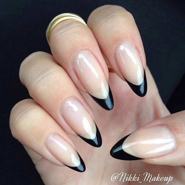 51 cool french tip nail designs nails pinterest. Black Bedroom Furniture Sets. Home Design Ideas
