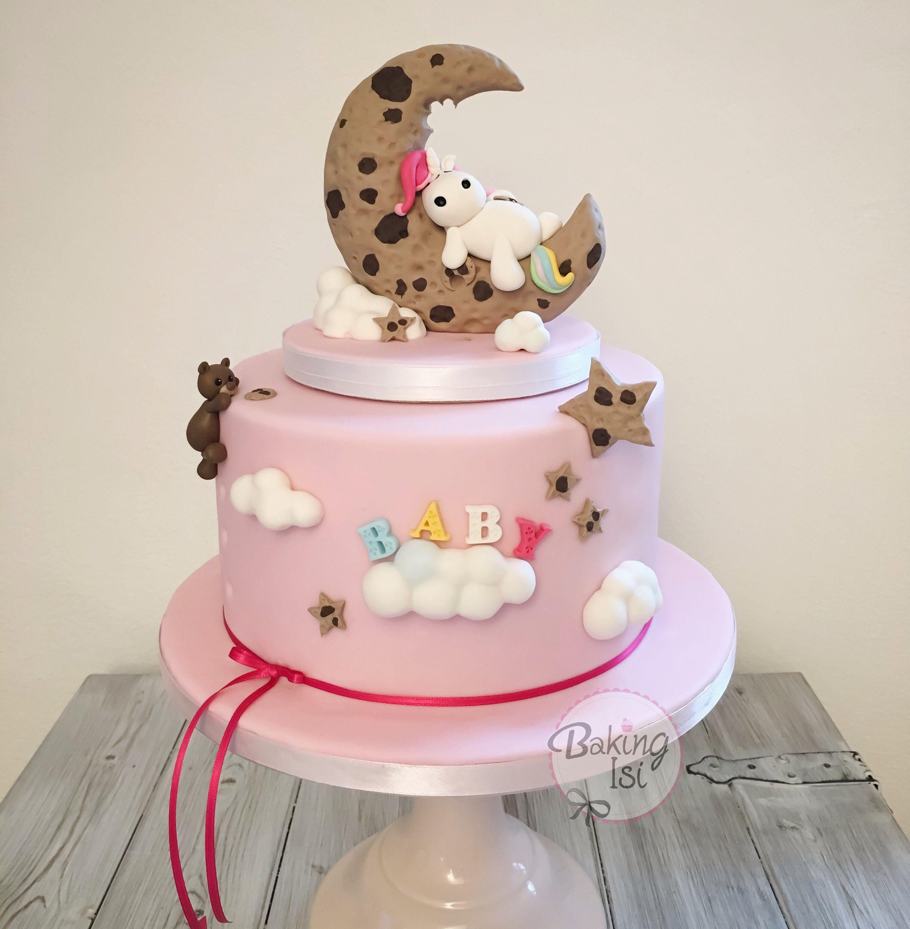 baby shower cake unicorn cookie moon keksmond einhorn pummeleinhorn torte cake fondant. Black Bedroom Furniture Sets. Home Design Ideas