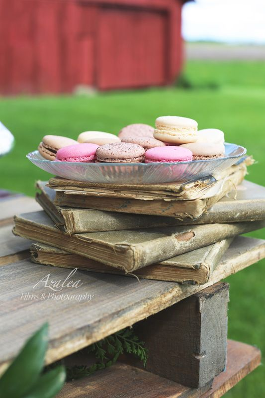 Love the vintage books under the treats!