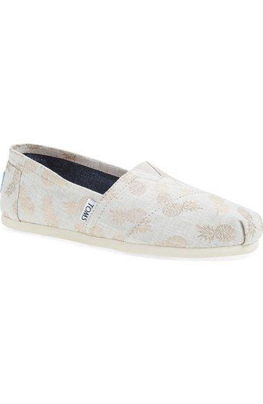 TOMS  Classic - Gilded Pineapples  Slip-On (Women) available at  Nordstrom 929bbb2170