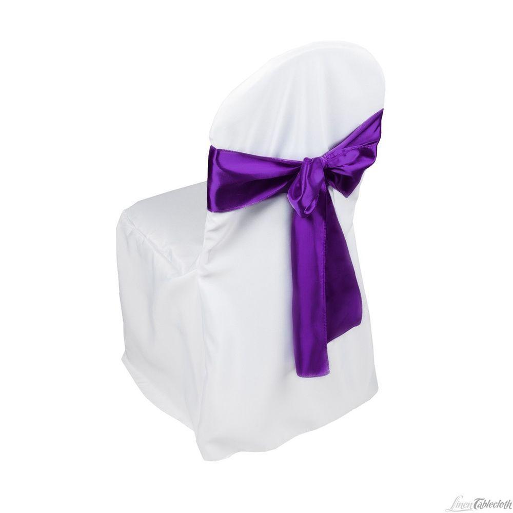cadbury purple satin chair sash bow runners packs 50 75 100