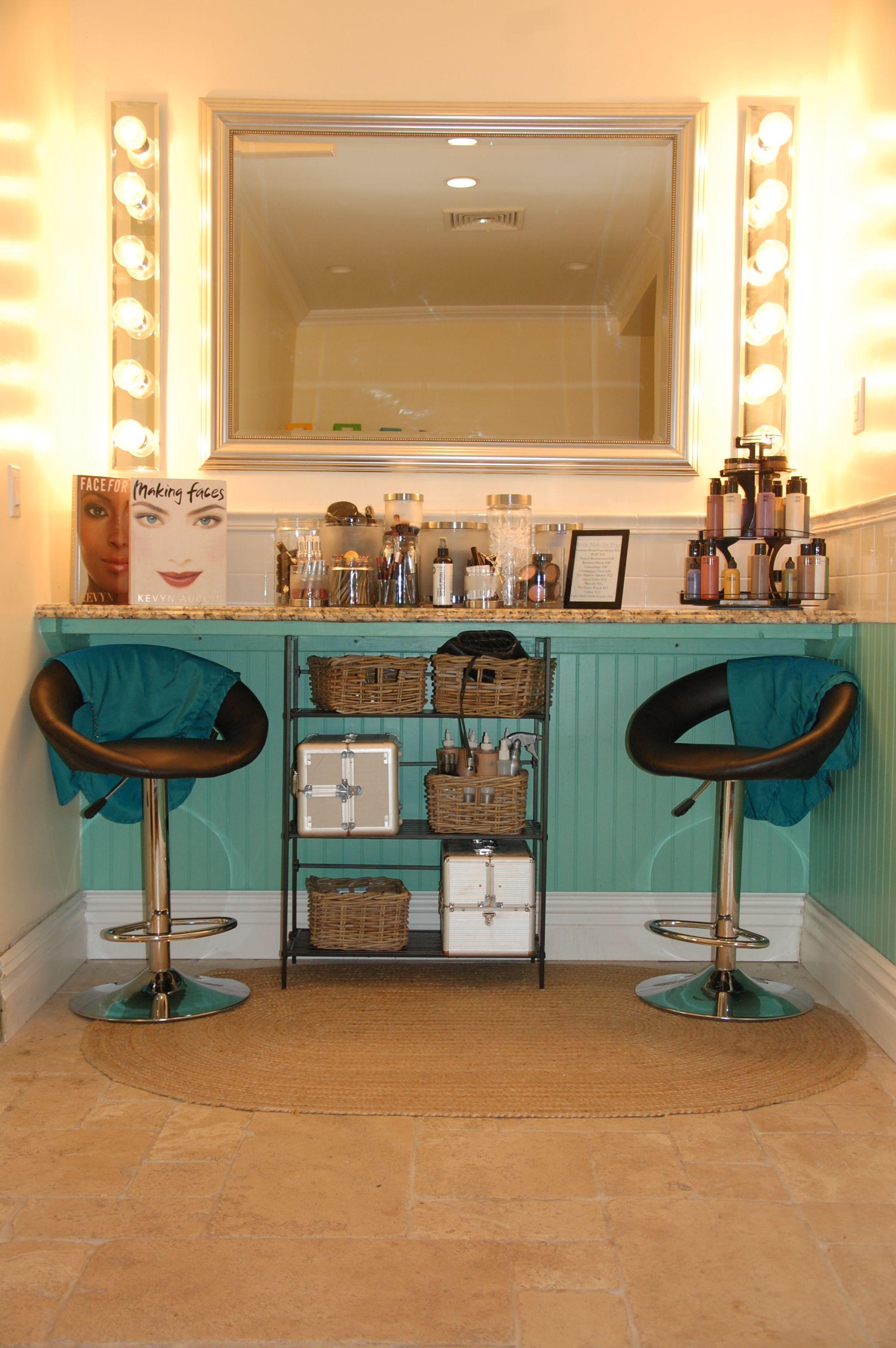 Makeup station at Moxie Salon in Ridgewood! Beauty salon