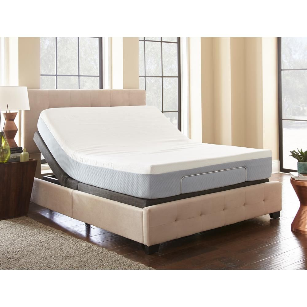 Rest Rite Rest Rite Twin Xl Adjustable Foundation Base Bed With Remote Control Hd2001txl The Home Depot Adjustable Beds Adjustable Bed Frame Bed Frame Mattress
