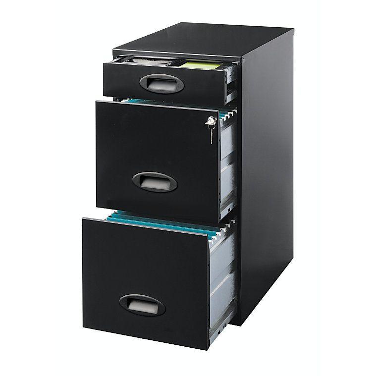 Amazing Realspace Soho 3 Drawer Organizer File 27 38 H X 14 14 W X 18 D Black By  Office Depot U0026 OfficeMax