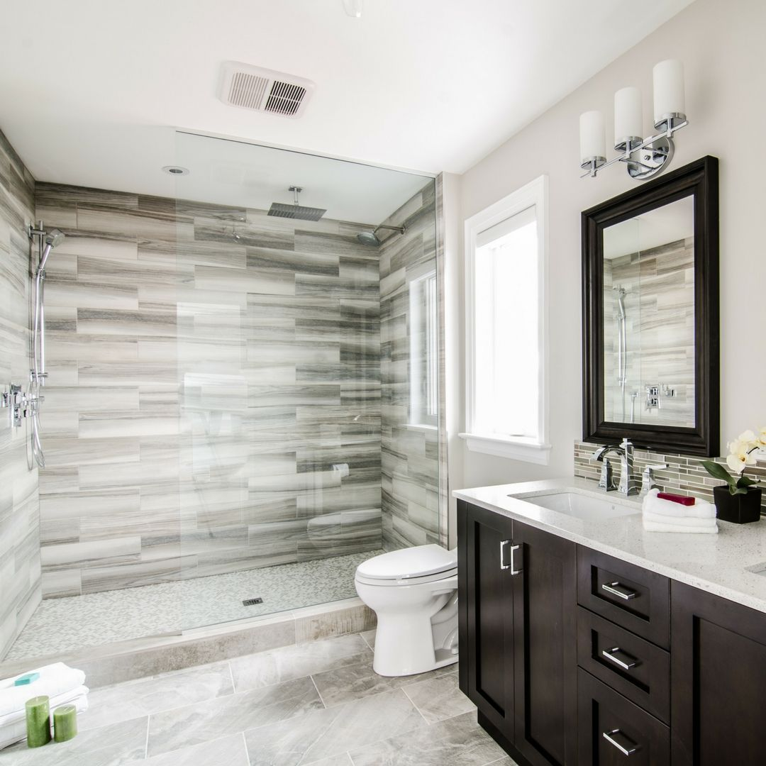 Master bedroom ensuite  Rustic u traditional elements come together to create master bedroom