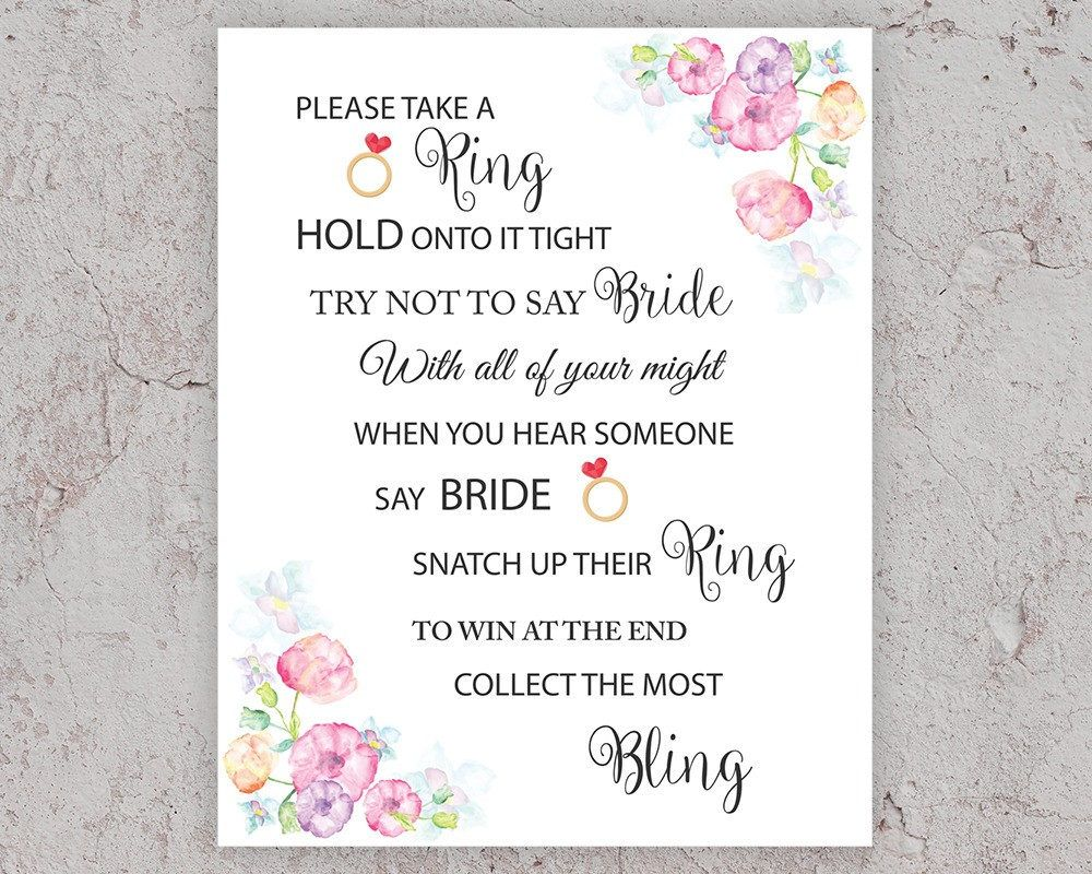 dont say bride game bridal shower games take a ring game pink bridal showerbridal shower activity printable bridal games j010 bridalshower