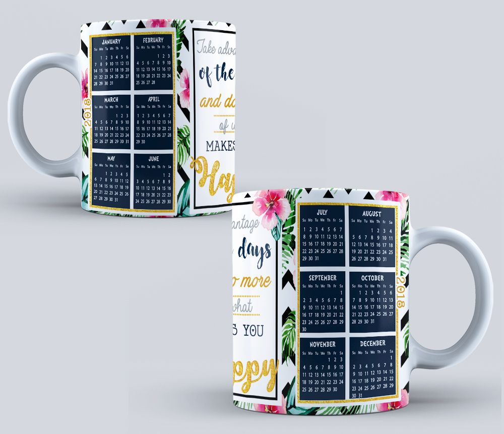 PSD Calendar 2021   sublimation templates   Calendar for mug