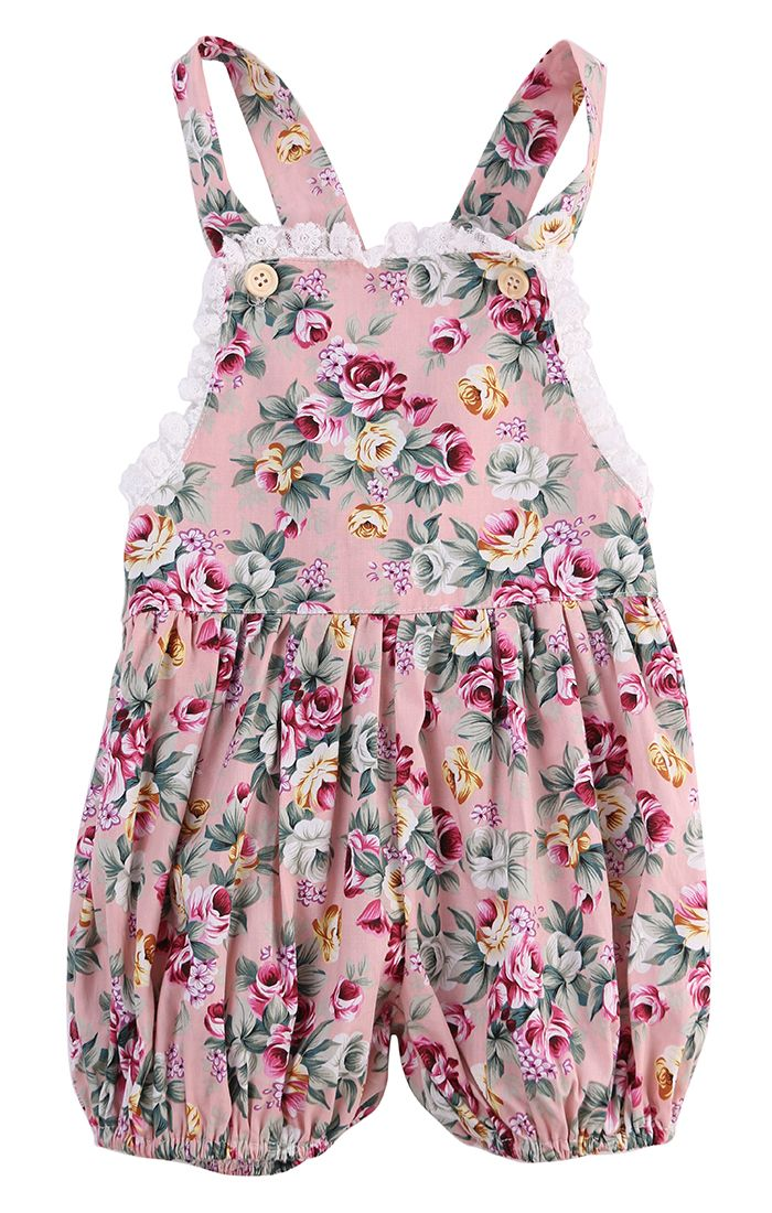 Awesome 2017 Baby 0 24m Girls Romper Toddle Kids Clothes Floral Rompers Overall Summer Newborn Baby Clothin Girls Rompers Baby Outfits Newborn Baby Girl Summer