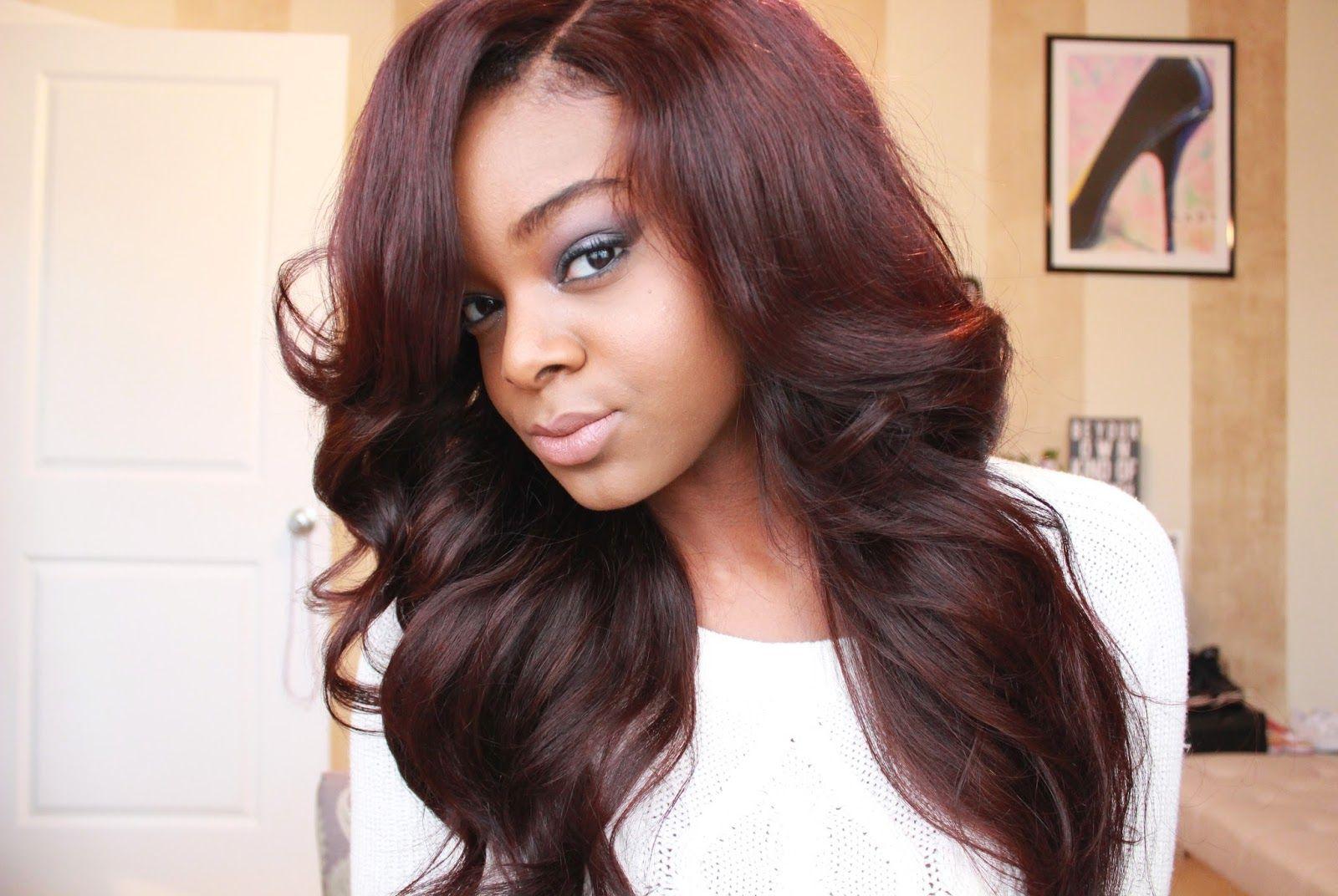 Burgundy Hair Color  New Haircut  Pinterest  Burgundy hair Hair