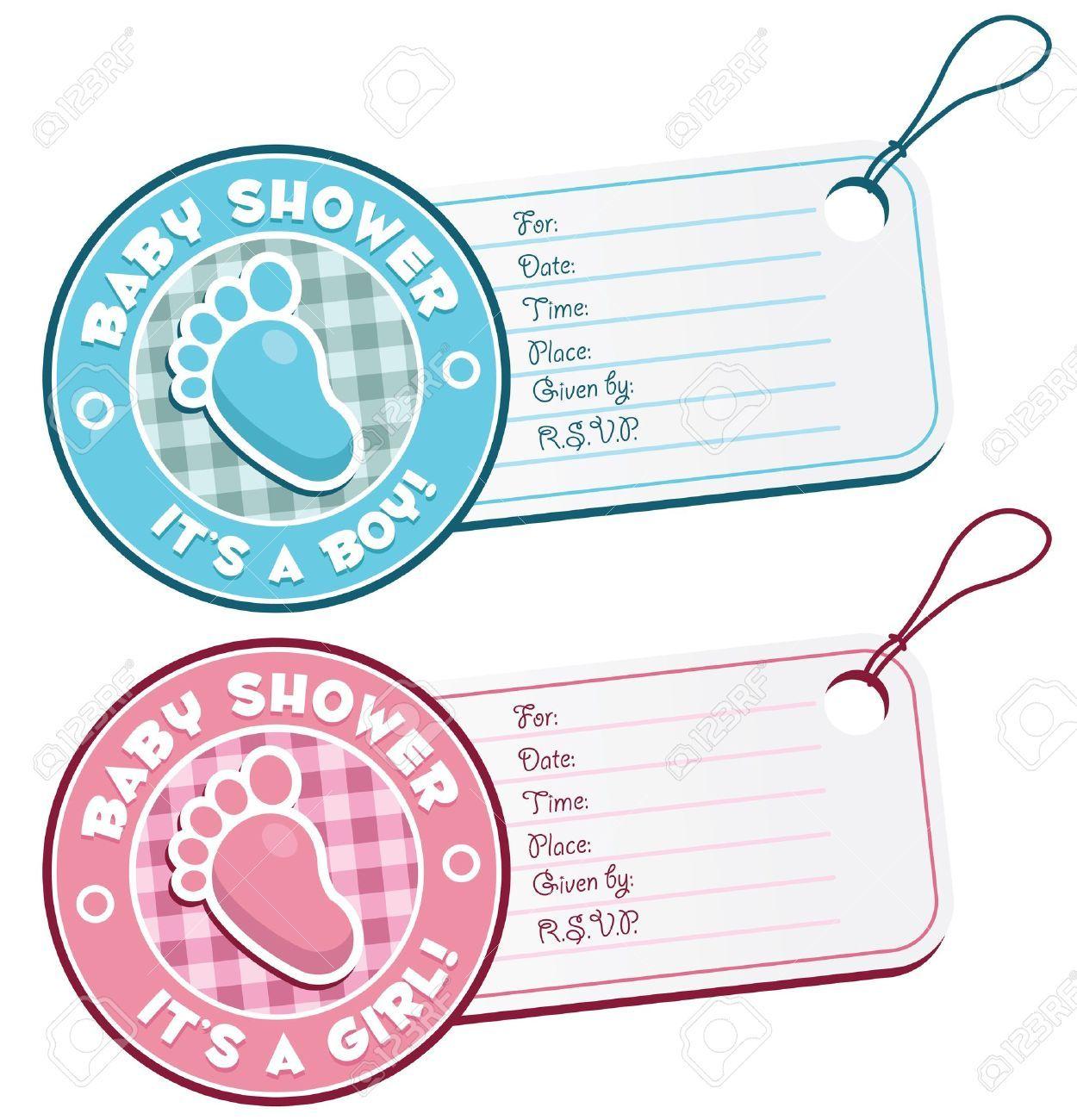 13621040-Baby-Shower-Etiquetas-pie-la-invitaci-n-Foto-de