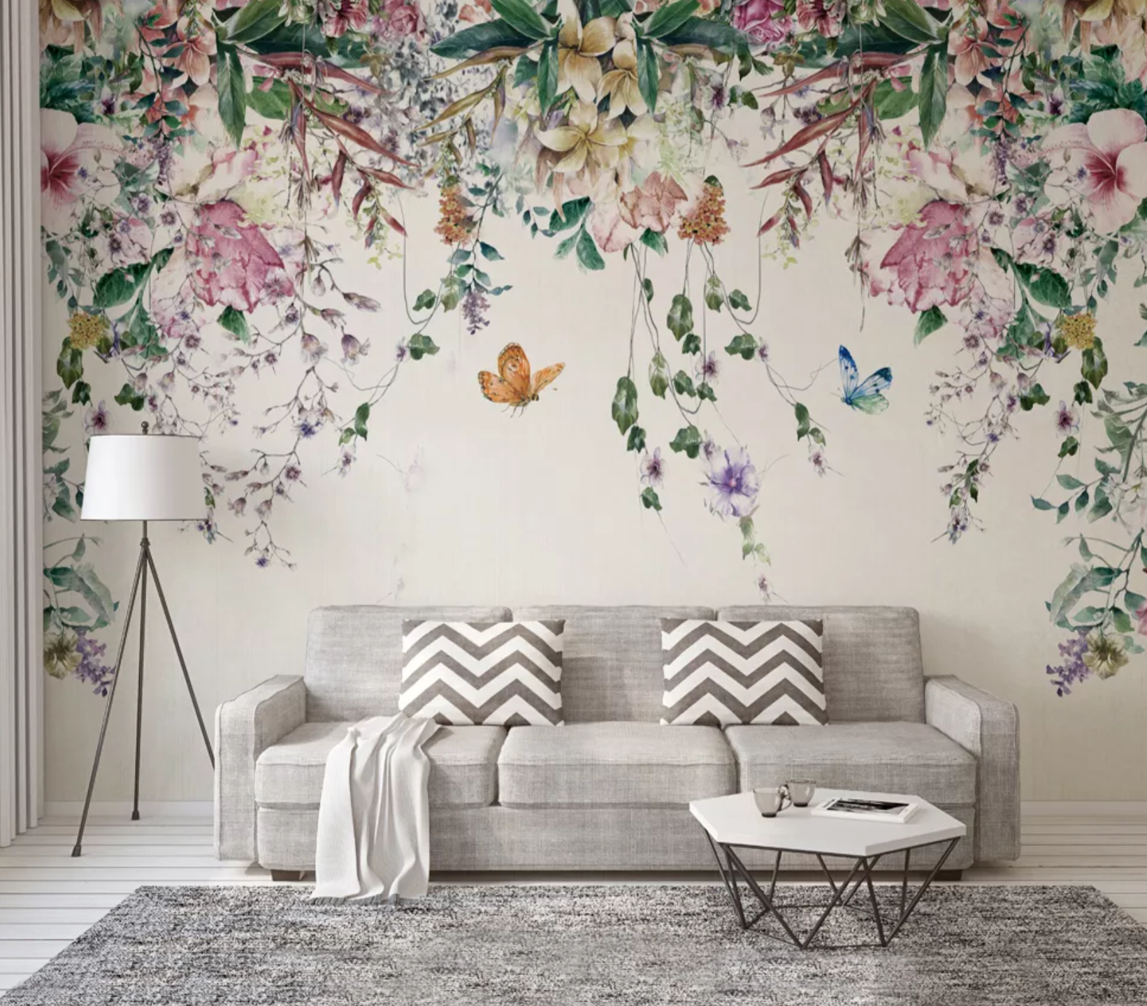 Papier Peint Panoramique Sur Mesure Page 1 Muralconcept Floral Wallpaper Bedroom Modern Wall Mur Floral Wallpaper Bedroom Room Wallpaper Wall Wallpaper