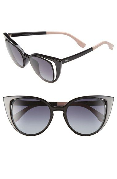 b8a16bc930d 455.00 Free shipping and returns on Fendi 51mm Cat Eye Sunglasses at  Nordstrom.com. Equal parts vintage and modern