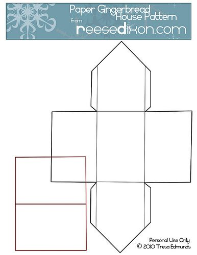 christmas paper houses templates | Click on the picture and