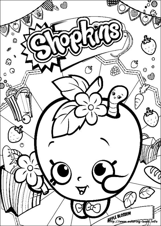 Shopkins Coloring Picture Coloring Pages Birthday Birthday