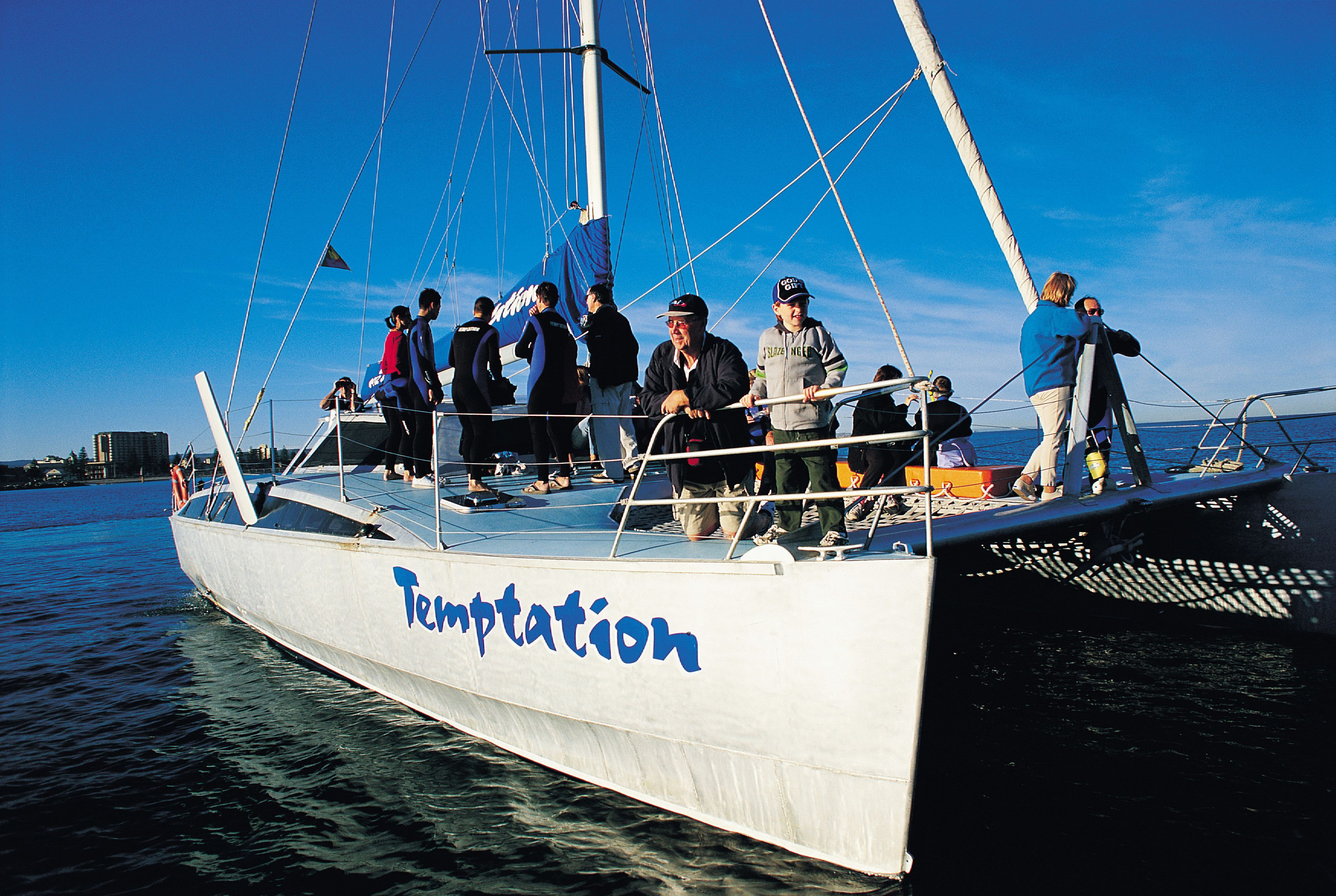 Temptation Is The First Vessel In South Australia To Be Given A Dolphin Swim License