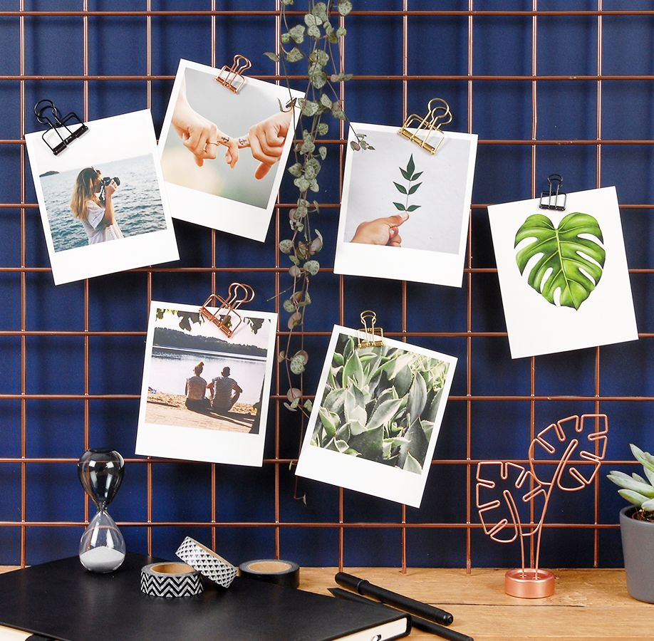 Mit Den Stylischen Kleinen Foldback Klammern In Gold Kupfer Oder Schwarz Kannst Du Deine Bilder Egal Wo Aufhänge Foto Poster Polaroid Bilder Foldback Klammern