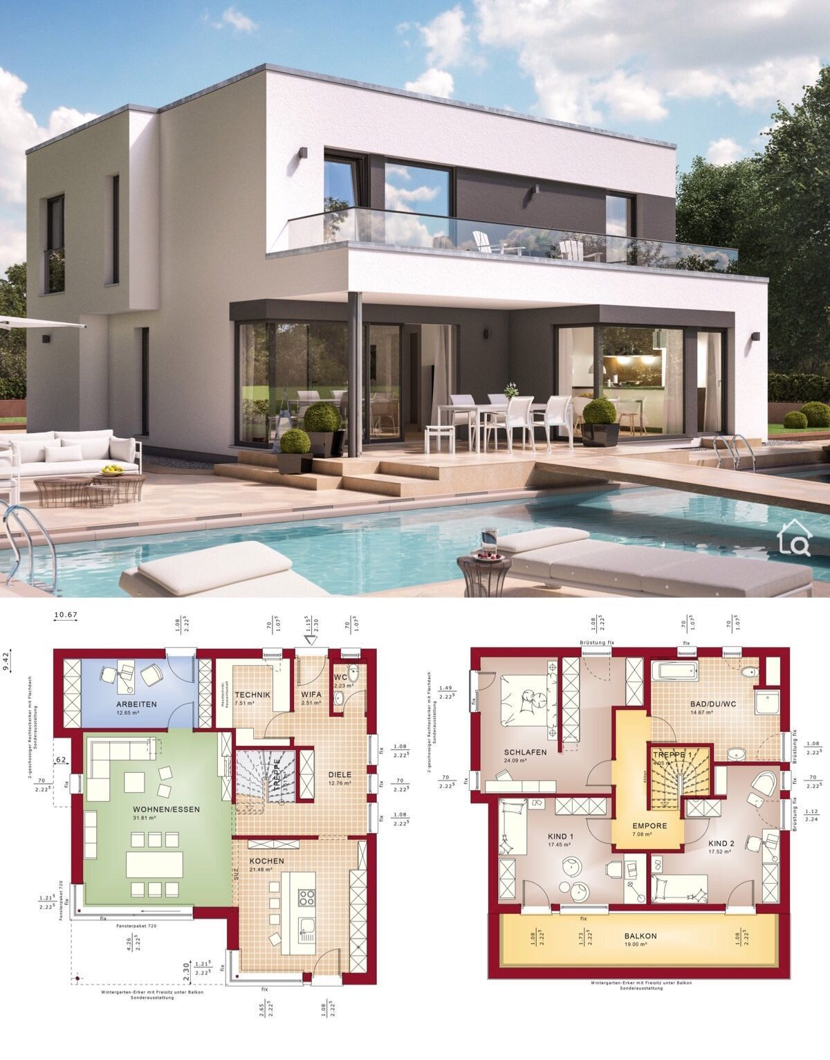 Modernarchitecture Fertighaus Fantastic 163 V8 Im Bauhausstil Bien Zenker Hausbaudirekt In 2020 Modern Villa Design House Architecture Design Prefabricated Houses