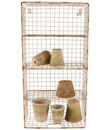 Wire shelves, can be hung vertical, horizontal or used as a tray/basket. Ideal for bathroom storage. Dimensions: 80x40cm