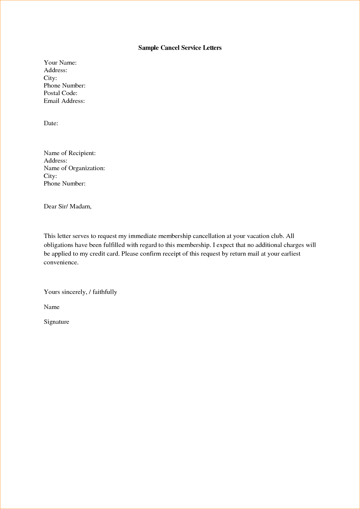 Image Result For Sample Of Termination Of Service Letter
