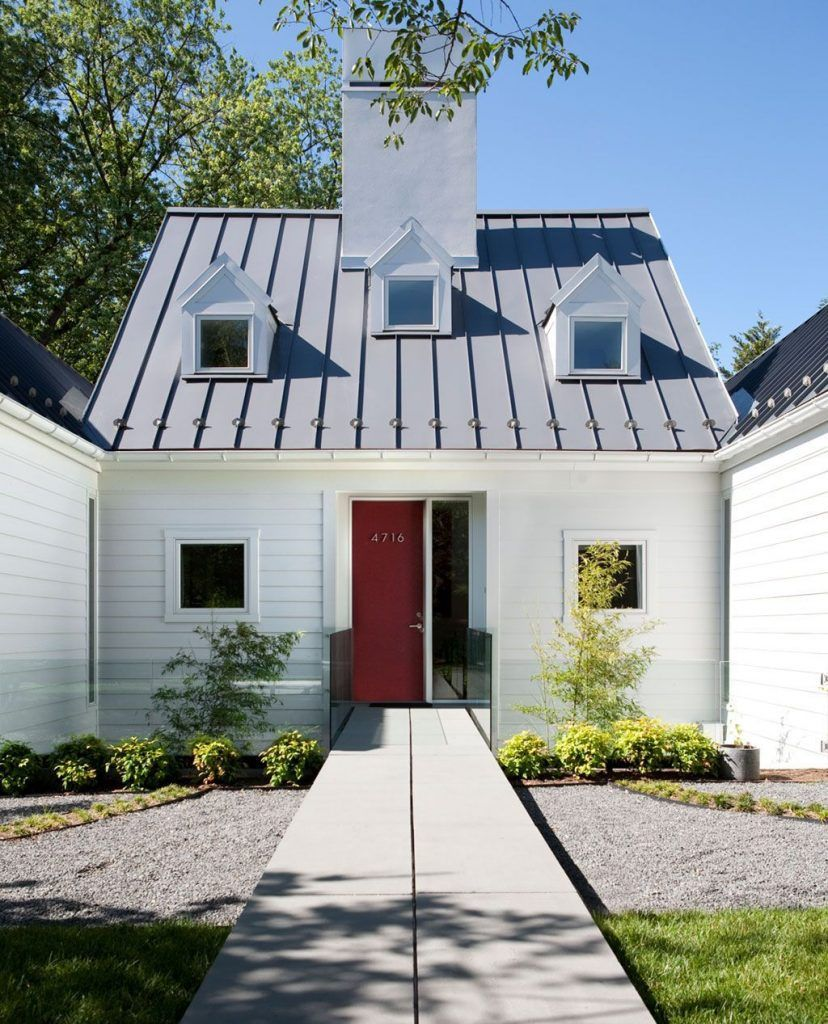 Standing seam metal roof a green choice for your home roof.