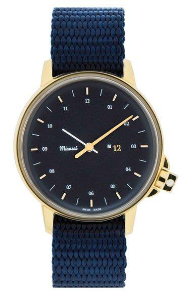 Miansai 'M12' Nylon Strap Watch, 39mm