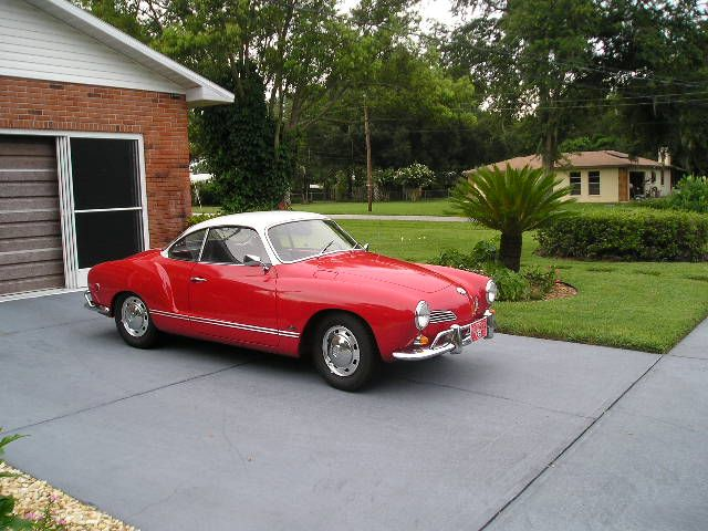 red with white rooftop Mein Peoples Car 1970 VW Karmann Ghia