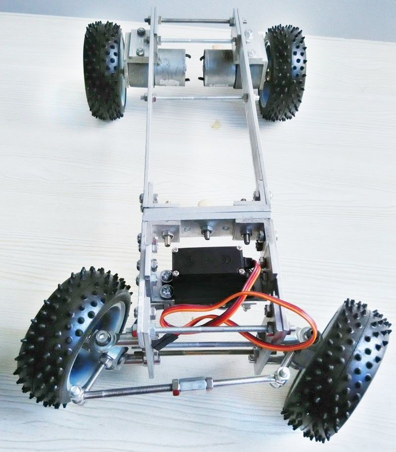 Metal Chassis Frame, Steering Engine Steering Robot Car Chassis ...
