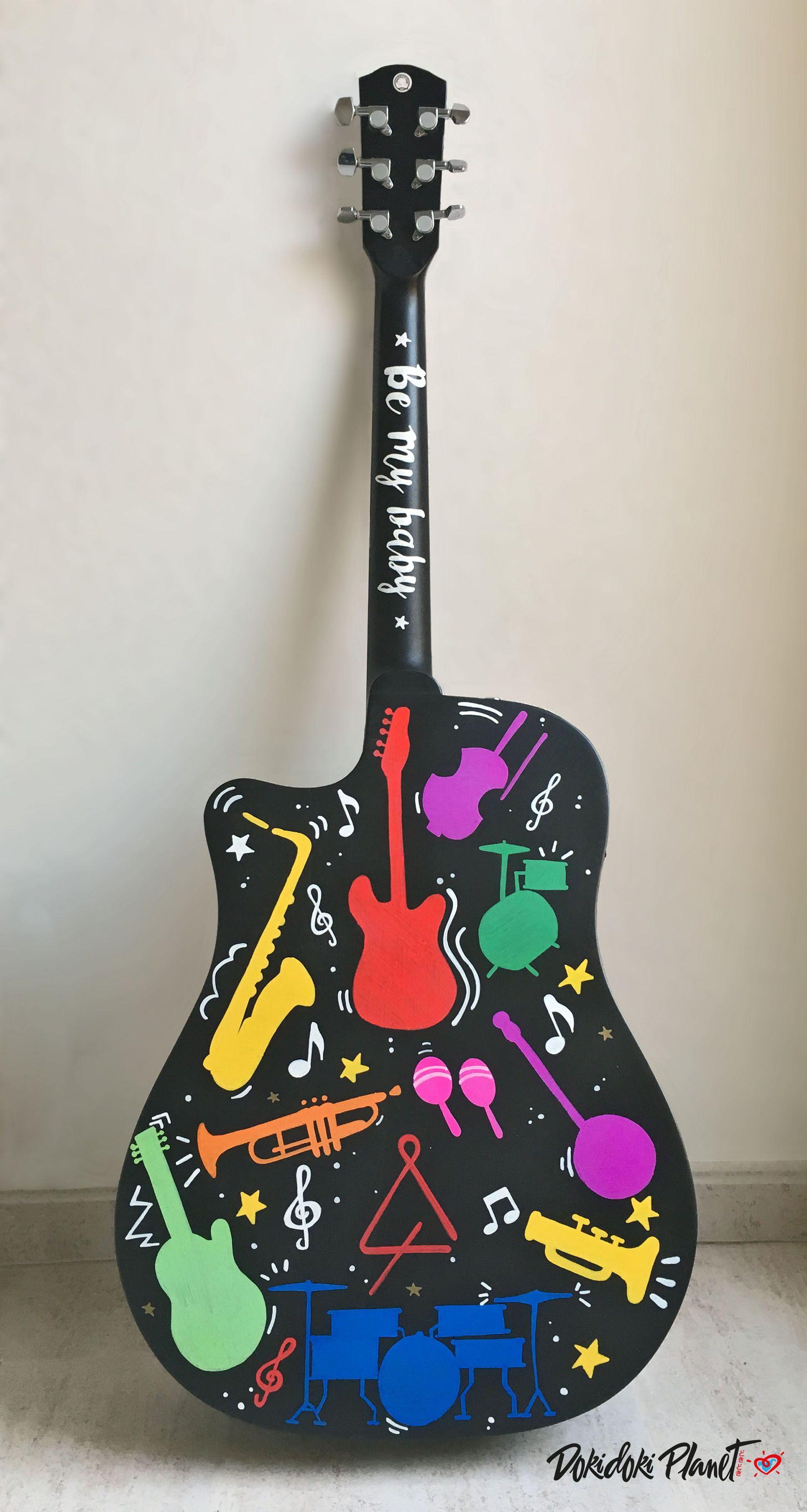 parte de atràs de guitarra fender pintada a mano encargo personal