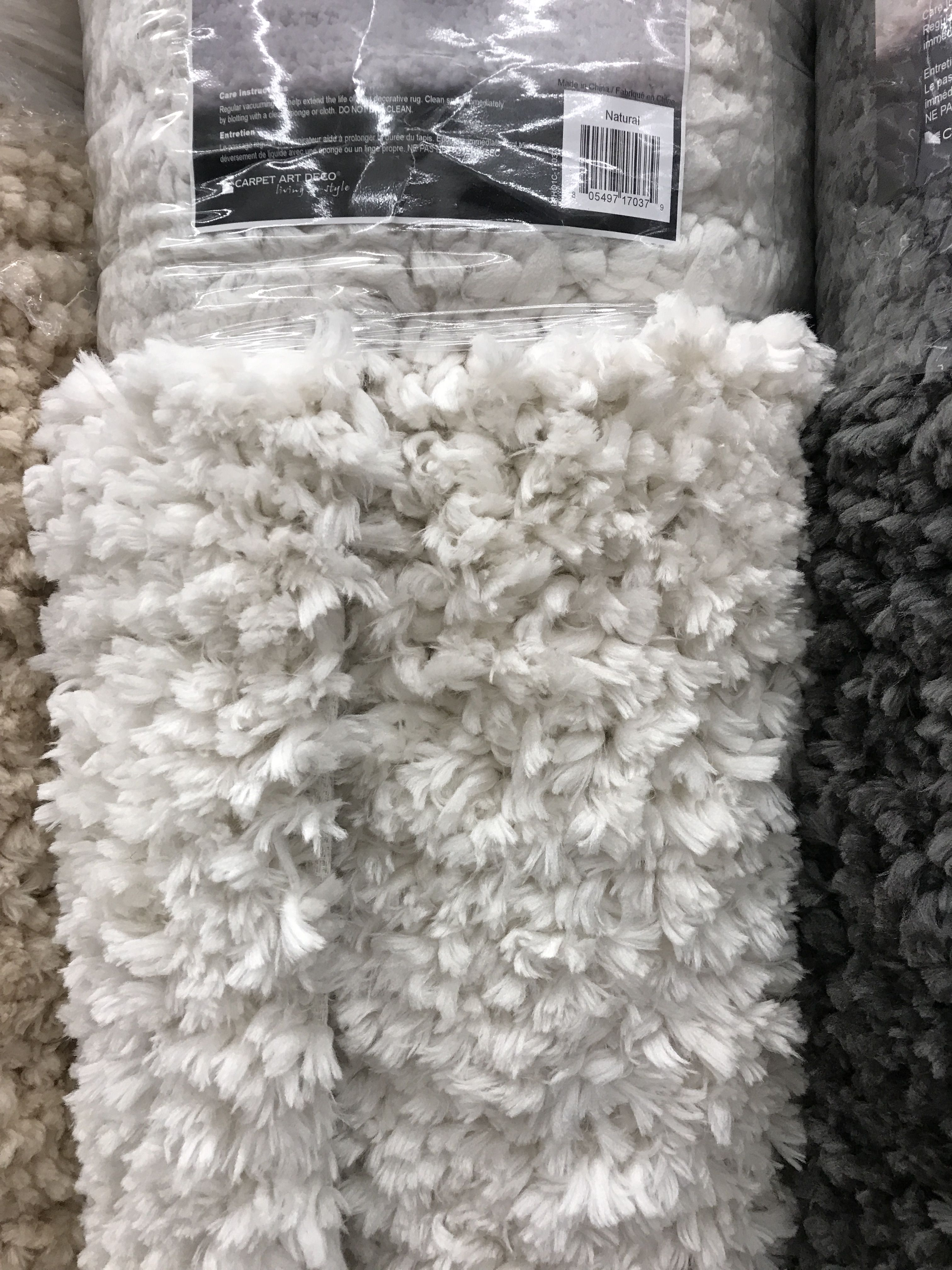 Fuzzy soft carpet for the master bedroom