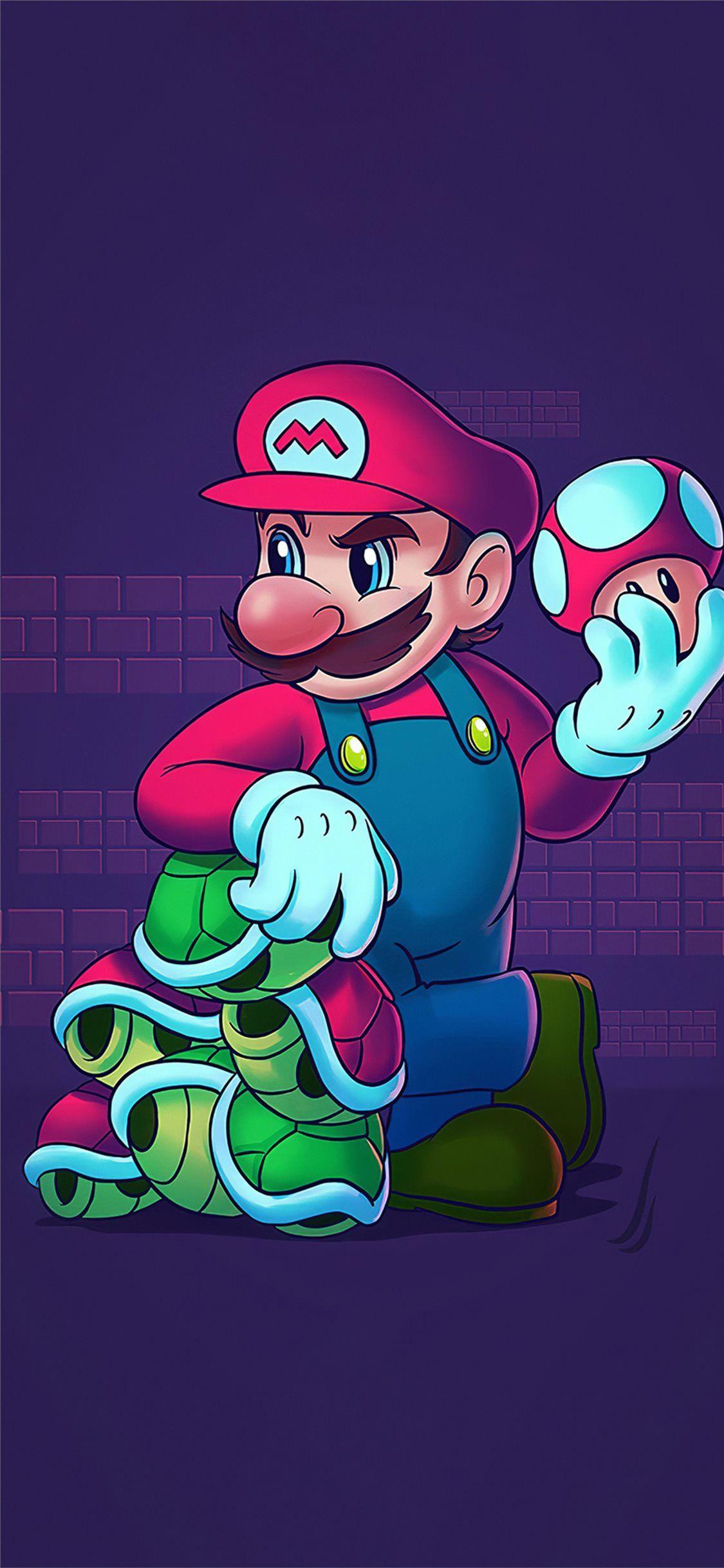 super mario nintendo 4k iPhone 11 Wallpapers Mario