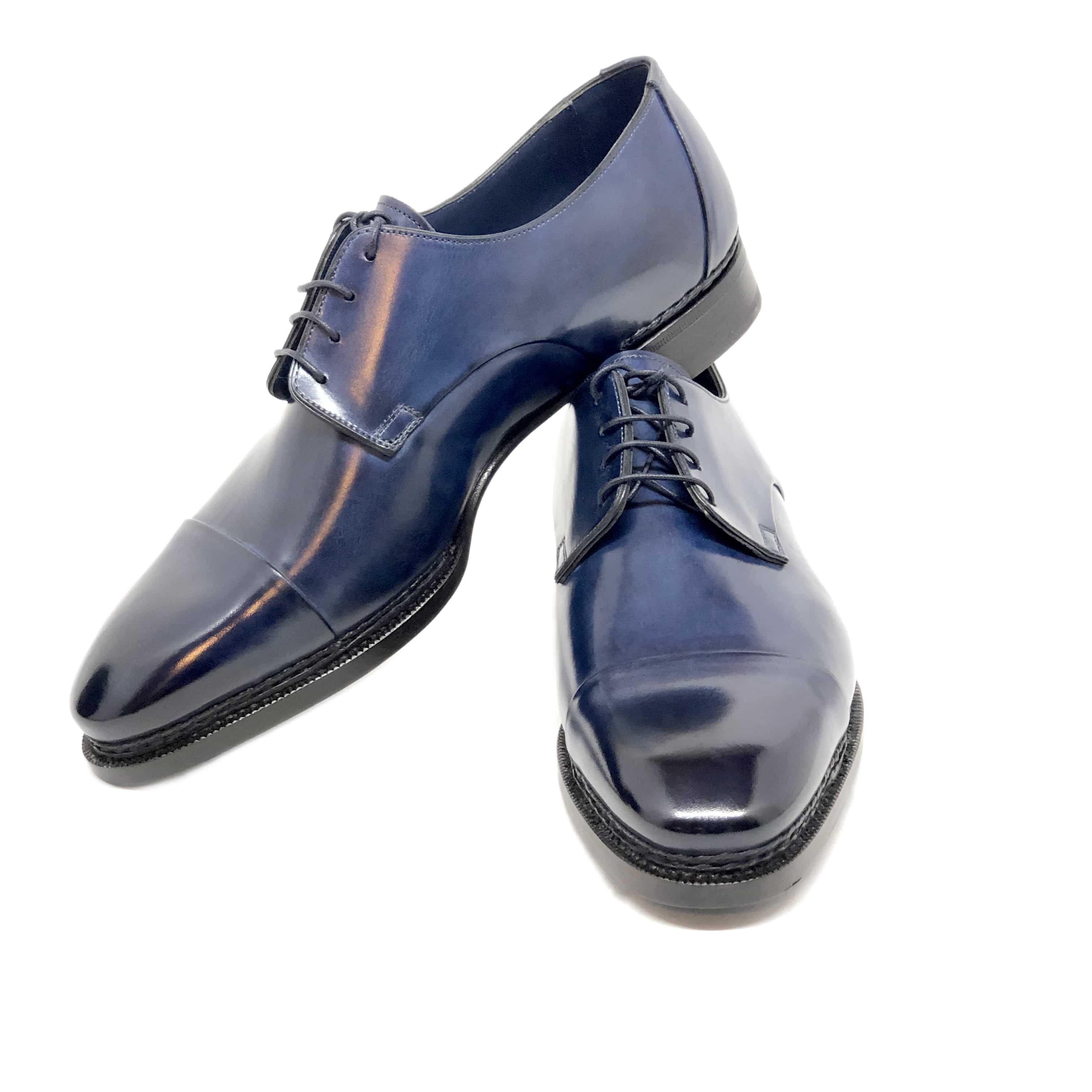 Blue leather, Dress shoes men