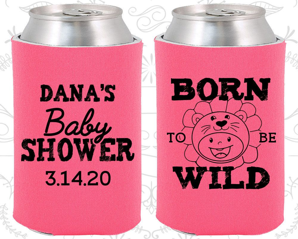 Custom can coolies. Personalized wedding favors. Baby/Bridal Shower ...