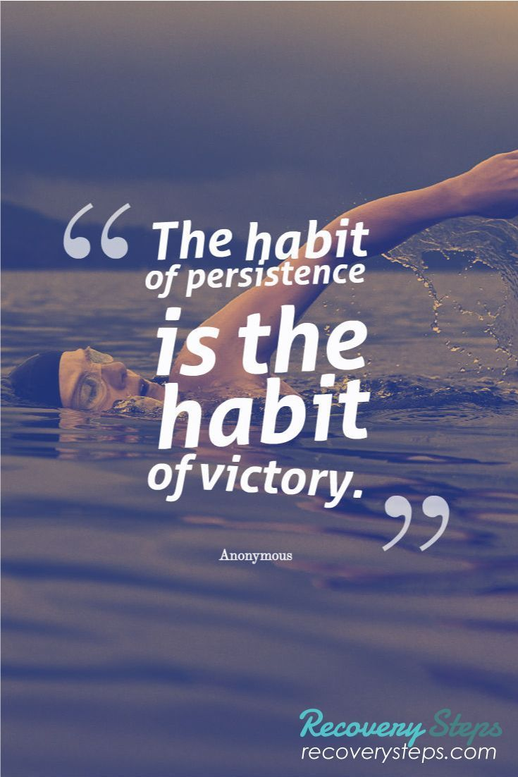 Power of Persistence is the habit of victory. success