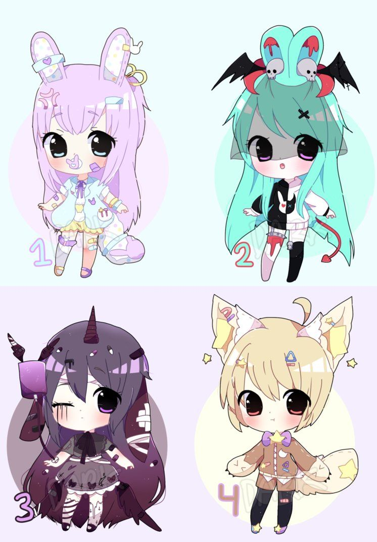 Chibi Adoptable Batch Auction [CLOSED TY} by DarkFearZZ