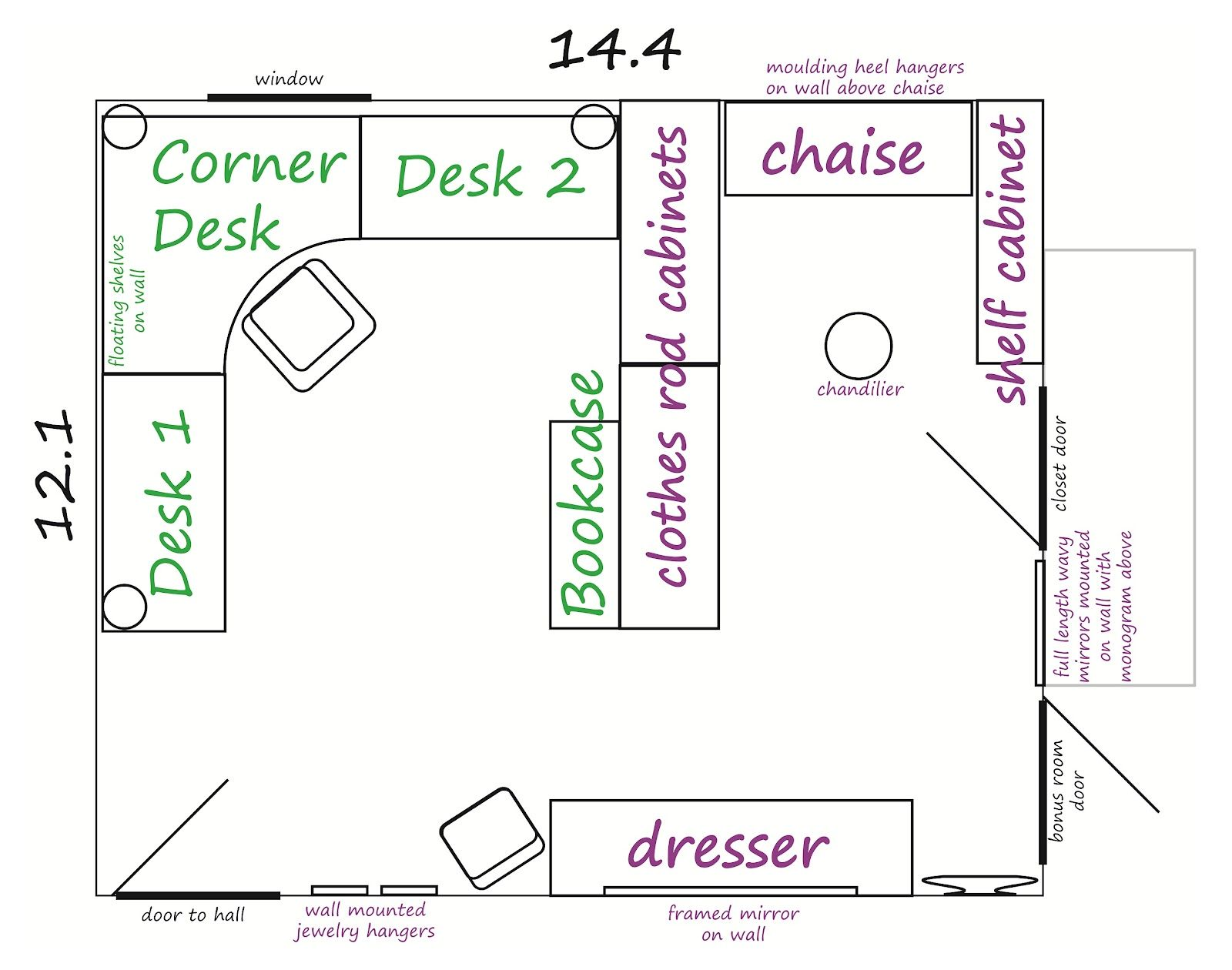 Craft Room Ideas And Layouts And The Color Scheme For The Room Also Our Wedding Colors Which I Craft Room Design Office Craft Space Office Layout