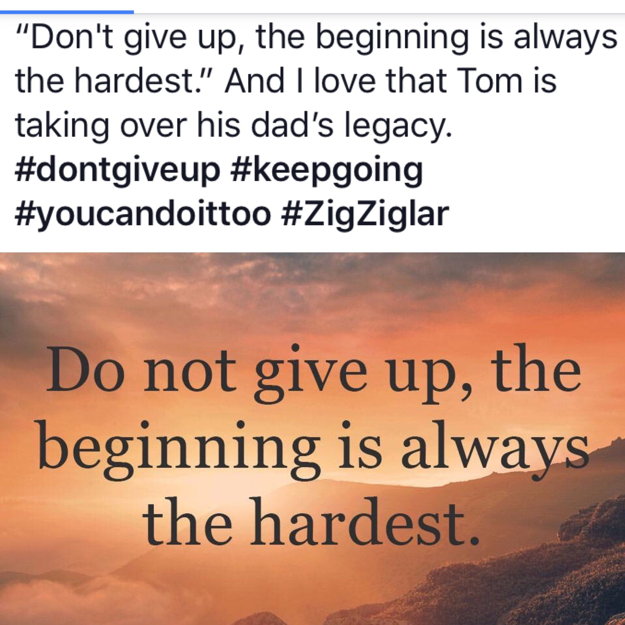 Don T Give Up The Beginning Is Always The Hardest And I Love