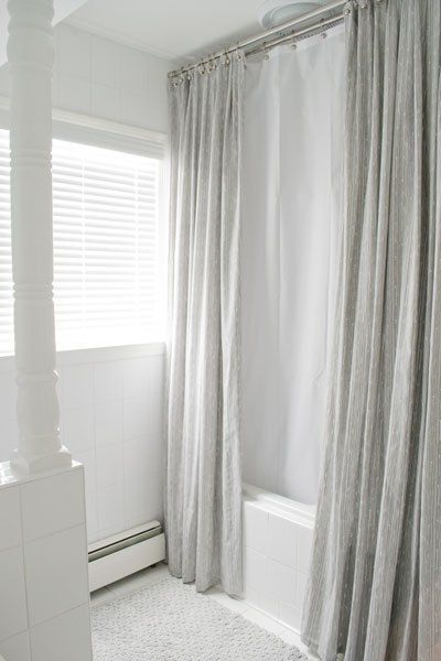 Bathroom Mini Makeover Unique Shower Curtain Diy Shower Curtain