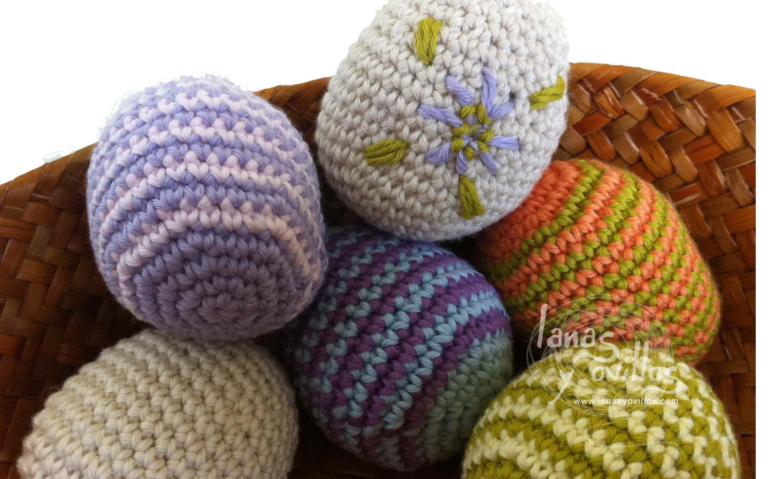 Tutorial Huevos Pascua Amigurumi Easter Eggs (English subtitles ...