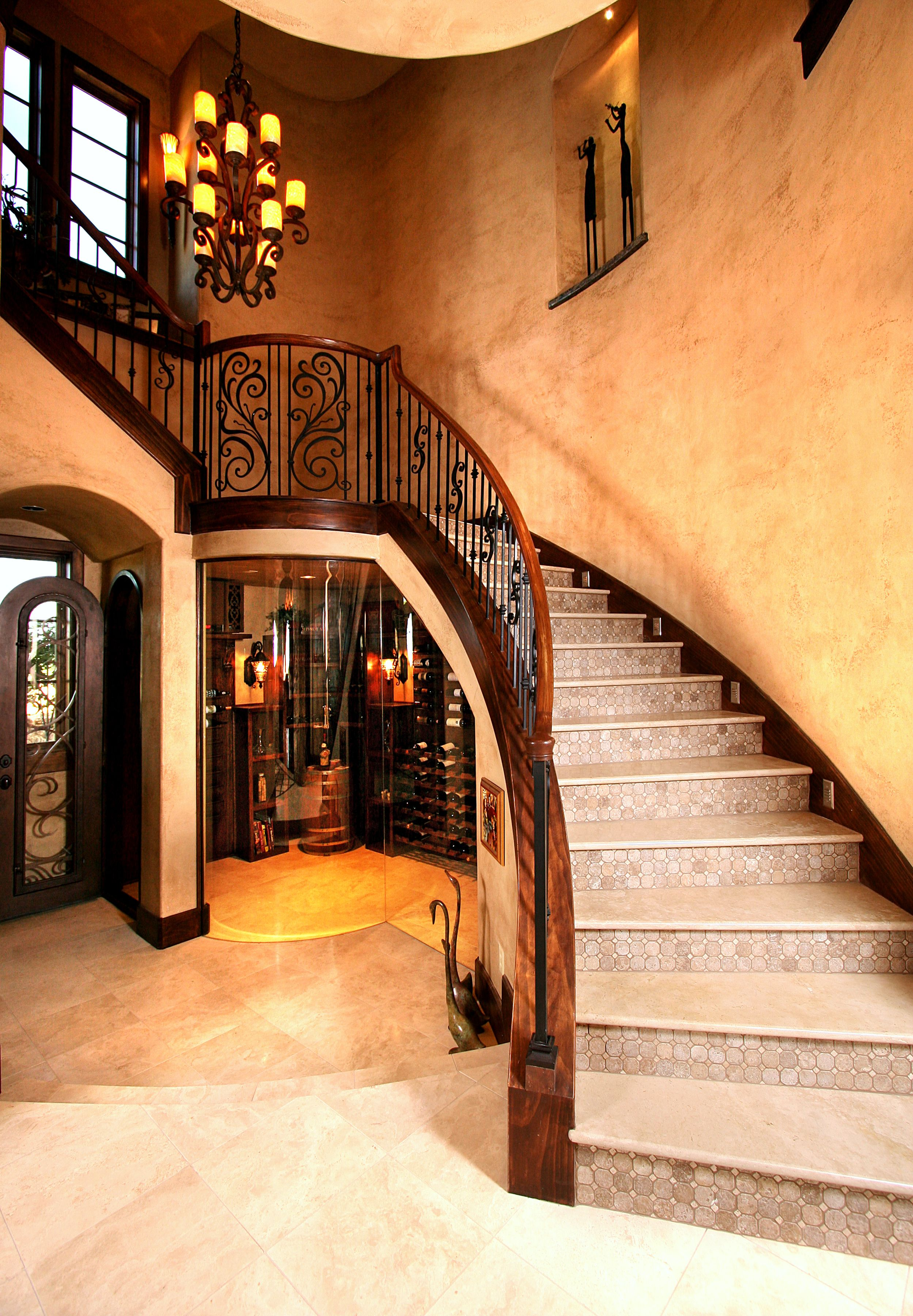 Small Custom Homes Texas Ranch Style Homes Custom Ranch Homes Design Interior Designs: Stairway Built In Wine Room Belvedere In Lake Travis By Zbranek & Holt Custom Homes, Austin And