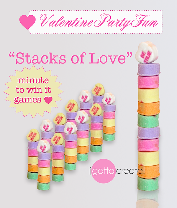 use conversation hearts to adapt this minute to win it game for valentine parties see more at httpigottacreateblogspotcom holiday pinterest - Valentine Minute To Win It Games
