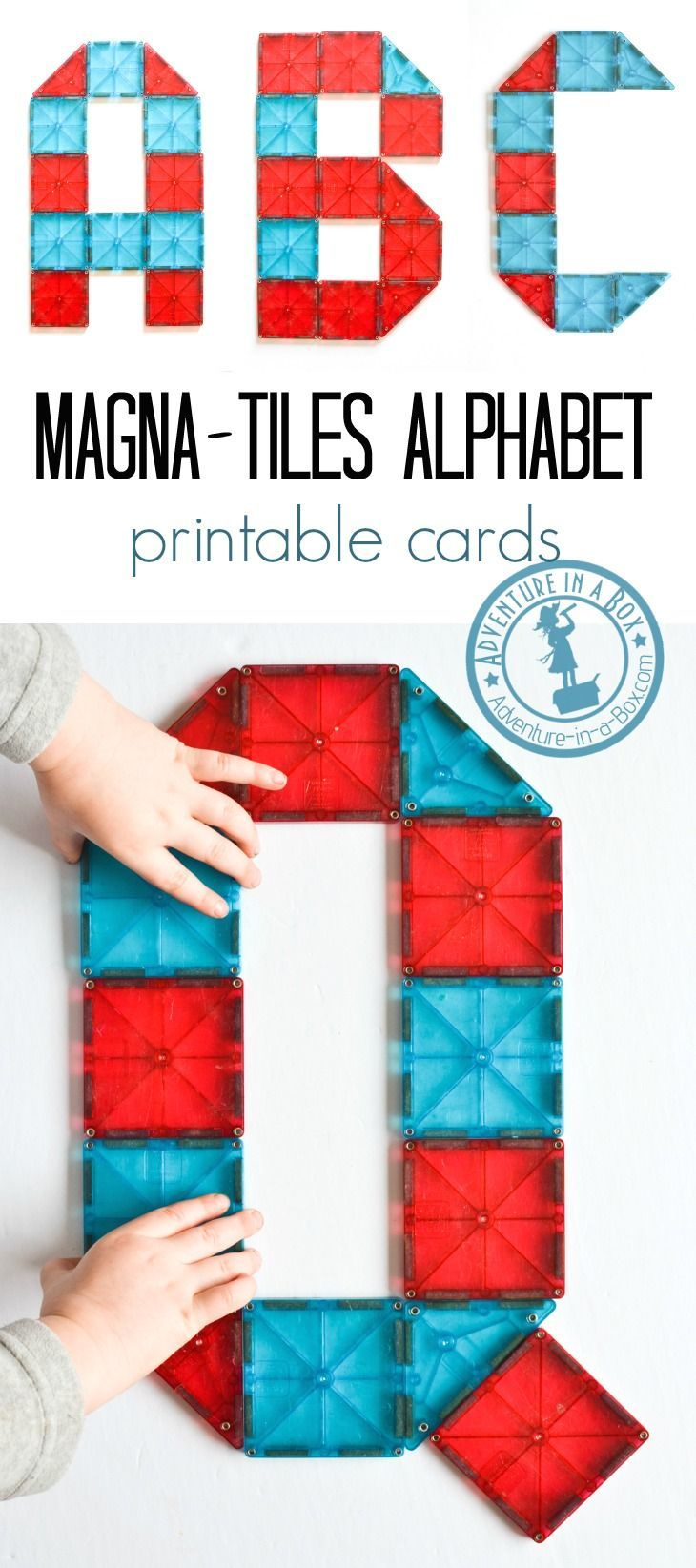 MagnaTiles Uppercase Alphabet Printable Cards    Free