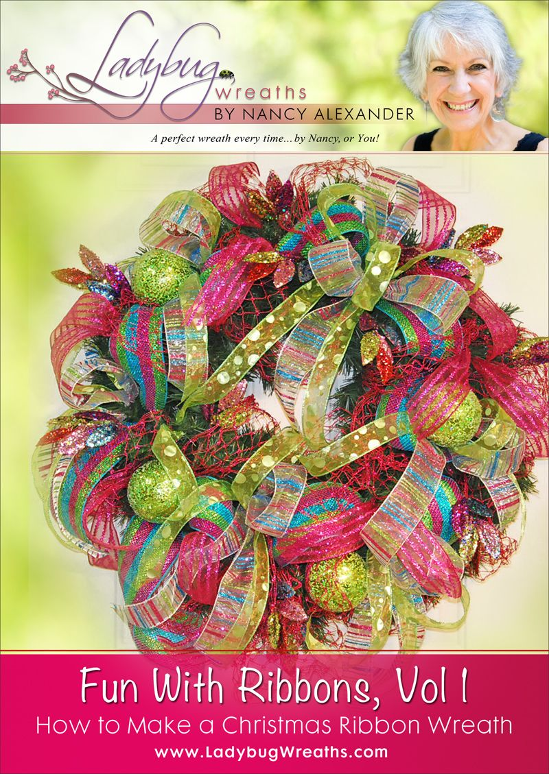 Learn how to make a beautiful Christmas Ribbon wreath with this step by step video tutorial!