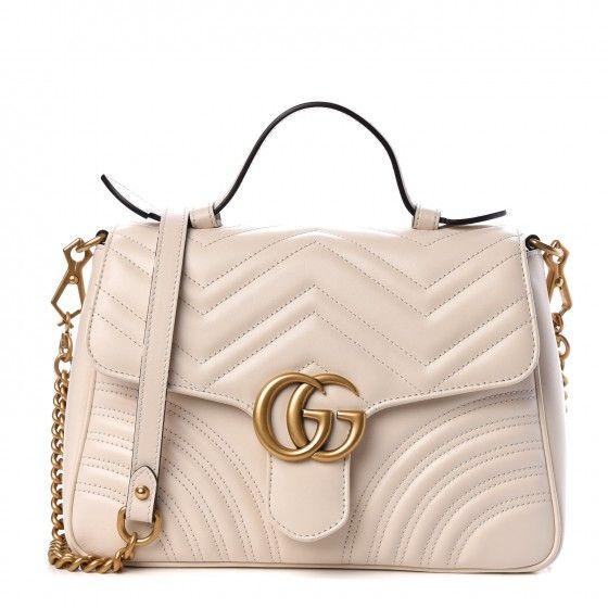 GUCCI Calfskin Matelasse Small GG Marmont Shoulder Bag