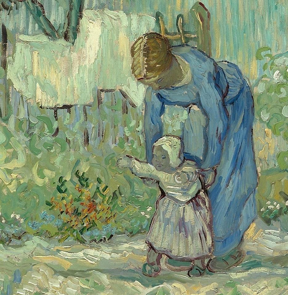 Vincent Van Gogh First Steps After Millet 1890 Vincent Van Gogh Art Vincent Van Gogh Van Gogh