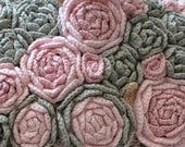 Flower applique DIY Kit to create Irish crochet 10 pcs Set flower Сrochet flower design Crochet jewelry Flower necklace Crochet dress #irishcrochetflowers