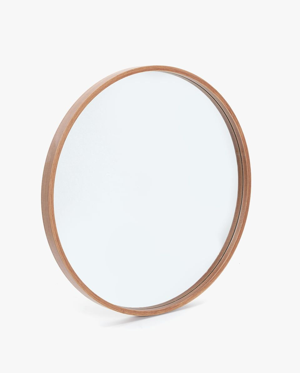 round wooden mirror home goods miroir rond bois. Black Bedroom Furniture Sets. Home Design Ideas